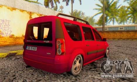 Dacia Logan MCV for GTA San Andreas back view
