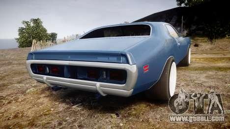 Dodge Charger 1971 v2.0 for GTA 4 back left view