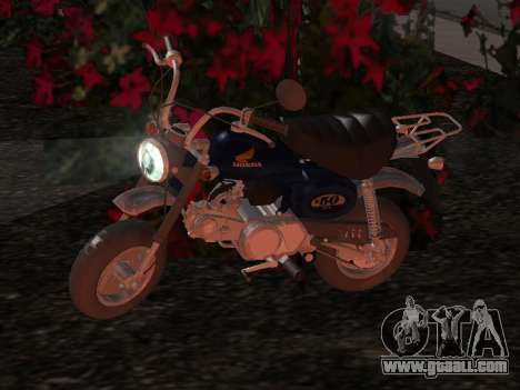 Honda Z50J Monkey for GTA San Andreas upper view
