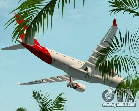 Airbus A330-200 Qantas for GTA San Andreas bottom view