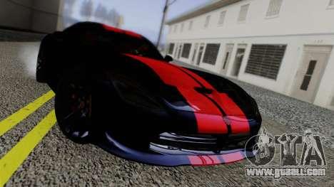 Dodge Viper SRT GTS 2013 Road version for GTA San Andreas inner view