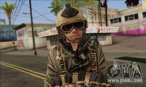 Task Force 141 (CoD: MW 2) Skin 17 for GTA San Andreas third screenshot