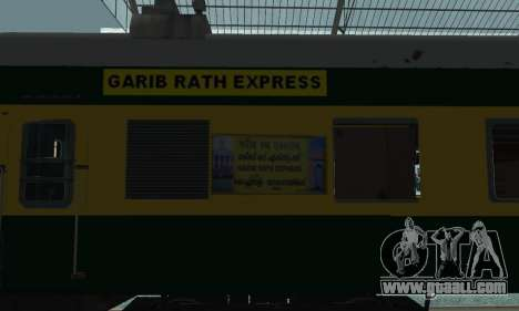 Garib Rath Express for GTA San Andreas right view