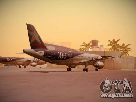 Airbus A320-214 LAN Airlines 100th Plane for GTA San Andreas right view