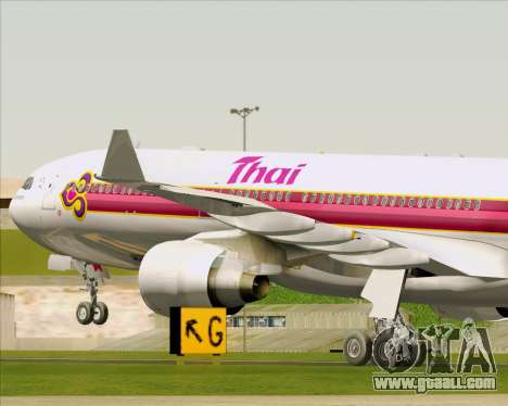 Airbus A330-300 Thai Airways International for GTA San Andreas wheels
