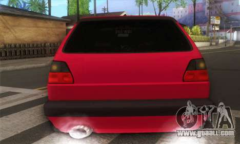 Volkswagen Golf Mk2 Low Life for GTA San Andreas right view