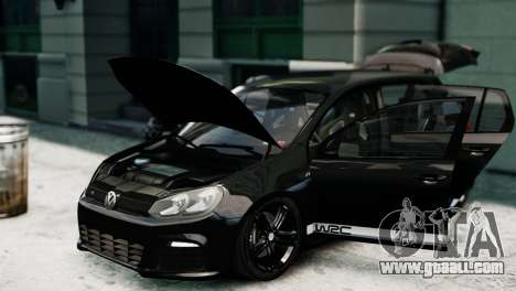 Volkswagen Golf R 2010 Polo WRC Style PJ1 for GTA 4 right view