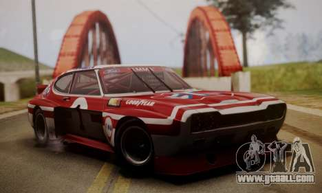 Ford Capri RS Cosworth 1974 Skinpack 2 for GTA San Andreas back view