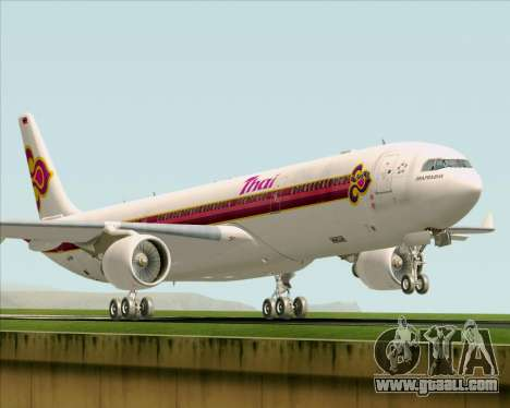Airbus A330-300 Thai Airways International for GTA San Andreas left view