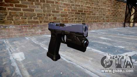 Pistol Glock 20 blue tiger for GTA 4