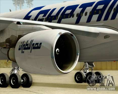 Airbus A330-300 EgyptAir for GTA San Andreas bottom view