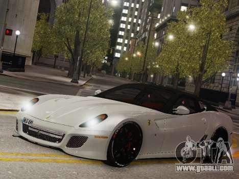 Ferrari 599 GTO for GTA 4 back left view
