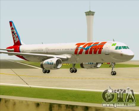 Airbus A321-200 TAM Airlines for GTA San Andreas left view