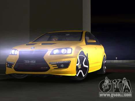 Holden HSV GTS 2011 for GTA Vice City upper view