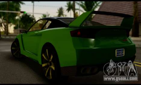 GTA V Elegy RH8 Twin-Turbo (IVF) for GTA San Andreas left view