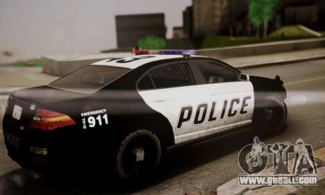 Vapid Police Interceptor from GTA V for GTA San Andreas left view