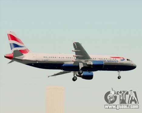 Airbus A320-232 British Airways for GTA San Andreas bottom view