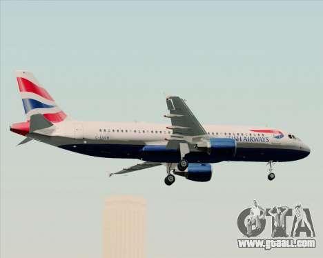 Airbus A320-232 British Airways for GTA San Andreas bottom view