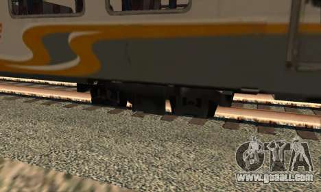 K1 Argo Traincar Indonesian for GTA San Andreas back left view