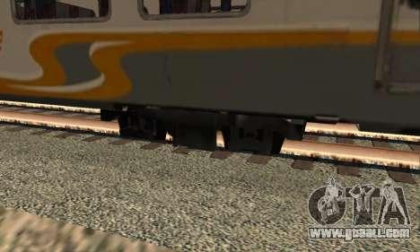 K1 Argo Traincar Indonesian for GTA San Andreas back left view