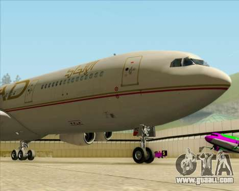 Airbus A340-313 Etihad Airways for GTA San Andreas inner view