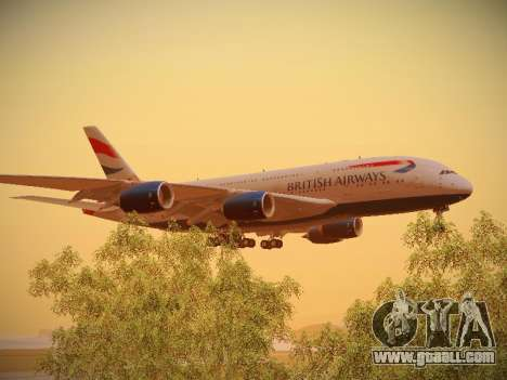 Airbus A380-800 British Airways for GTA San Andreas inner view