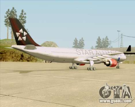 Airbus A330-300 SAS (Star Alliance Livery) for GTA San Andreas back view