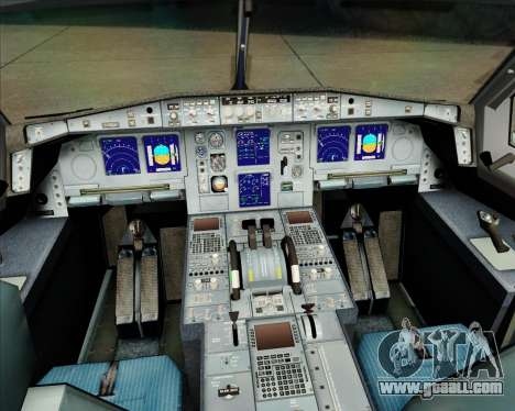 Airbus A340-311 House Colors for GTA San Andreas interior