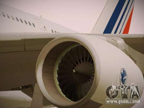 Airbus A380-800 Air France for GTA San Andreas engine