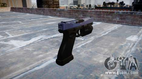 Pistol Glock 20 blue tiger for GTA 4 second screenshot