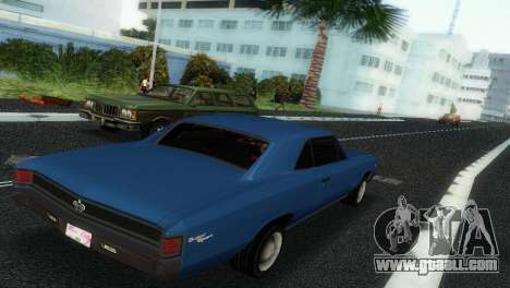 Chevrolet Chevelle SS 1967 for GTA Vice City back view