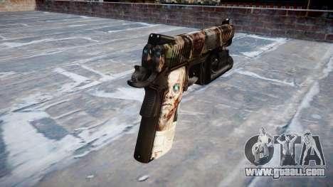 Gun Kimber 1911 Zombies for GTA 4 second screenshot