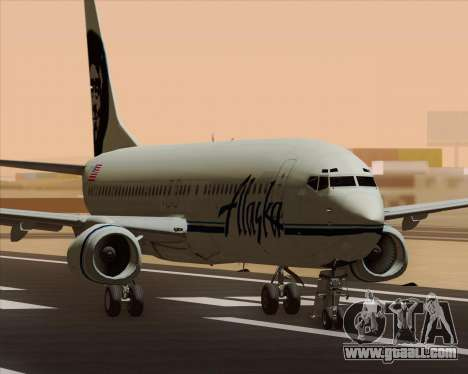 Boeing 737-890 Alaska Airlines for GTA San Andreas left view