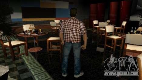 Kockas polo - narancs sarga T-Shirt for GTA Vice City third screenshot