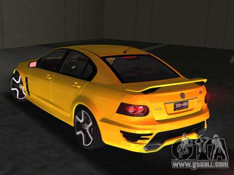 Holden HSV GTS 2011 for GTA Vice City side view