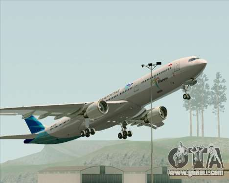 Airbus A330-300 Garuda Indonesia for GTA San Andreas bottom view