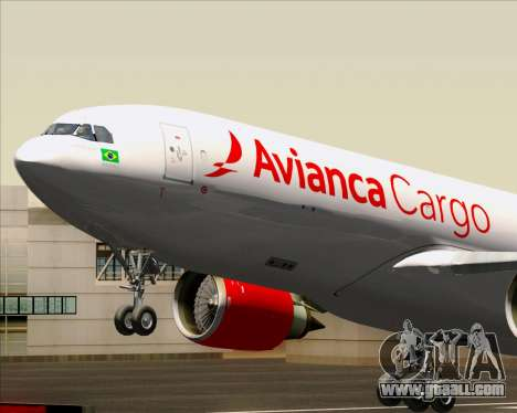 Airbus A330-243F Avianca Cargo for GTA San Andreas inner view