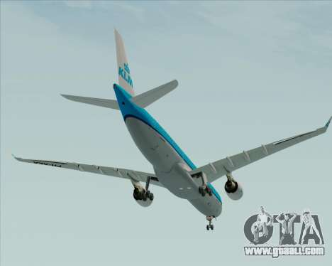 Airbus A330-300 KLM Royal Dutch Airlines for GTA San Andreas upper view