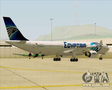 Airbus A330-300 EgyptAir for GTA San Andreas inner view
