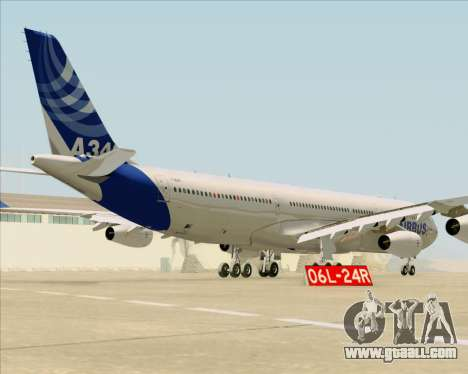 Airbus A340-311 House Colors for GTA San Andreas right view