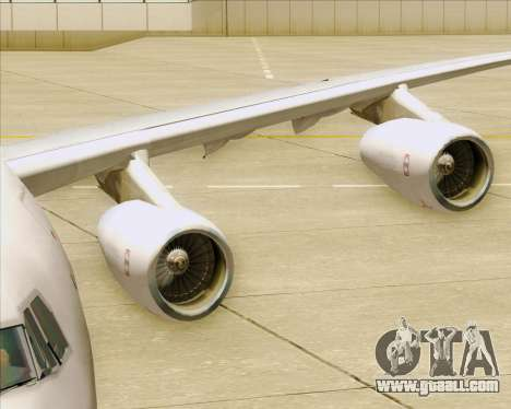 Airbus A340-311 House Colors for GTA San Andreas bottom view