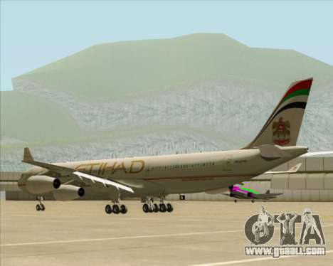 Airbus A340-313 Etihad Airways for GTA San Andreas right view