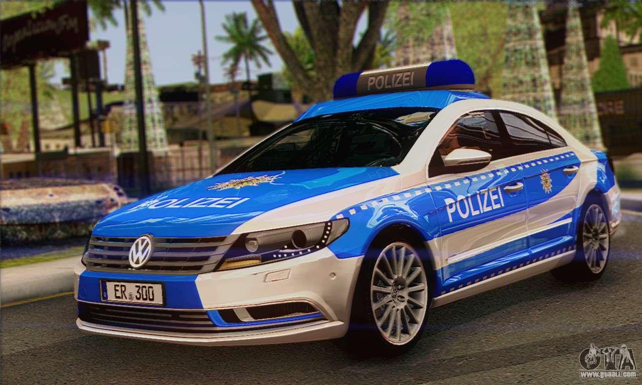 volkswagen passat cc polizei 2013 v1 0 for gta san andreas. Black Bedroom Furniture Sets. Home Design Ideas