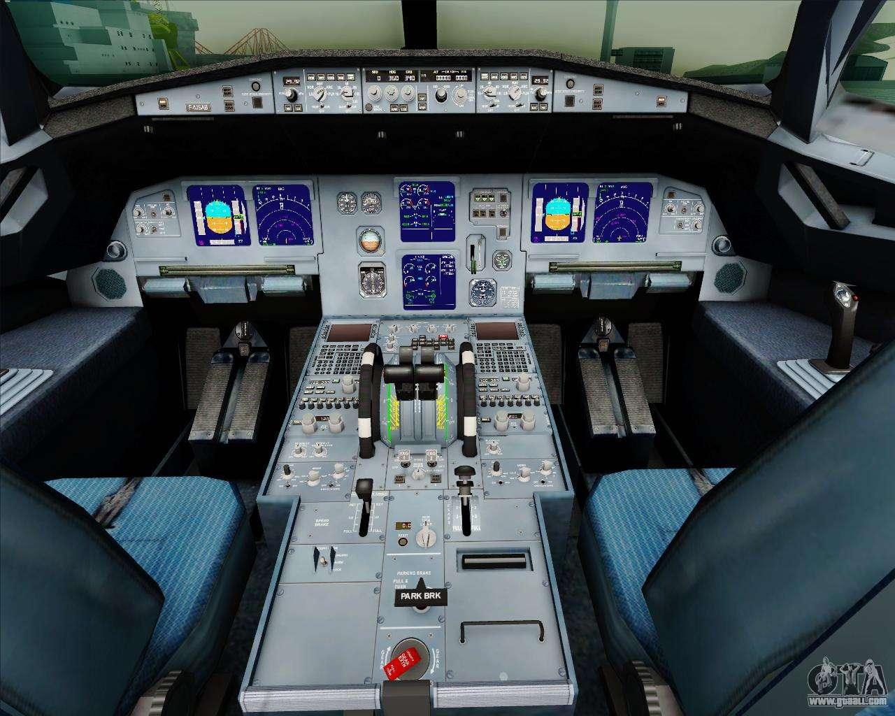 Airbus a321 200 british airways for gta san andreas for Gta sa plane interior mod