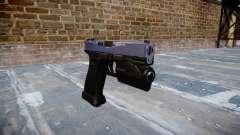 Pistol Glock 20 blue tiger