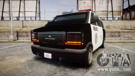 Declasse Burrito Police Transporter LED [ELS] for GTA 4