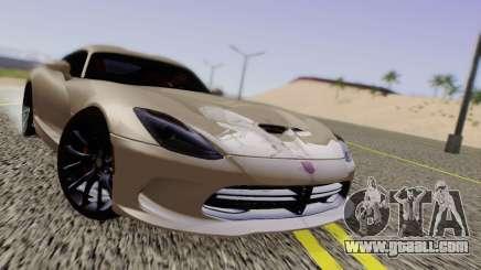 Dodge Viper SRT GTS 2013 Road version for GTA San Andreas