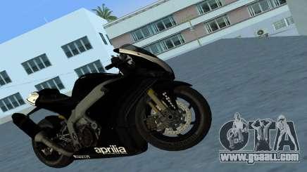 Aprilia RSV4 2009 Black Edition for GTA Vice City