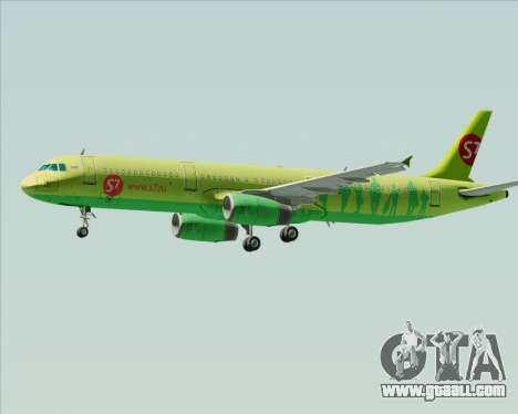 Airbus A321-200 S7 - Siberia Airlines for GTA San Andreas wheels