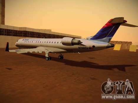 Bombardier CRJ-700 Delta Connection for GTA San Andreas back left view